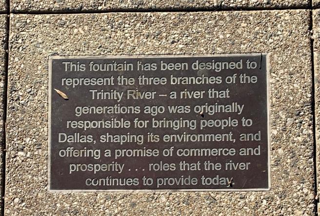 Trinity River Plaque