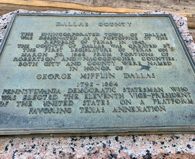 Dallas County Plaque