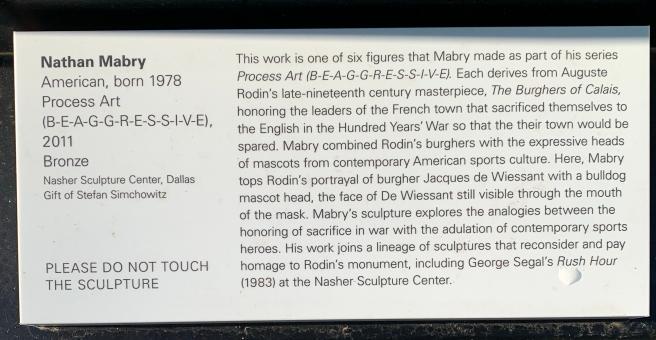 Plaque about statue